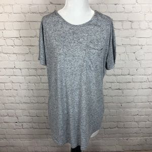 Anthropologie Feathers Oversized T-Shirt Grey Med